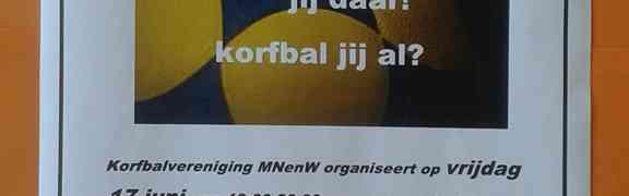 Korfbalclub MNenW uit Hijum in opzoek naar nieuwe leden, jong en